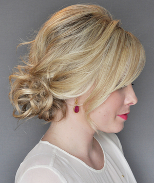 How To Do The Messy Side Updo With A Twist Real Simple