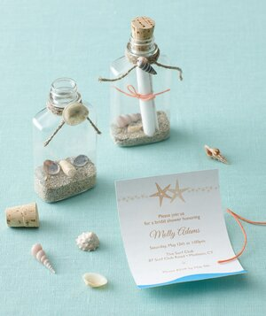 beach themed bridal shower invitation