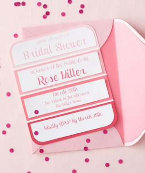 pink themed bridal shower invitation