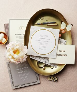6 modern wedding invitations real simple