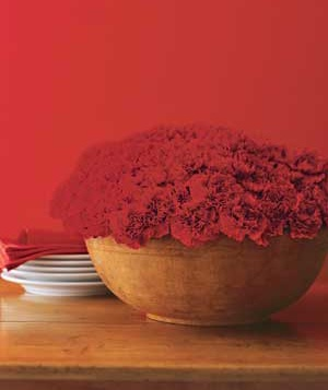 Centerpiece made of carnations