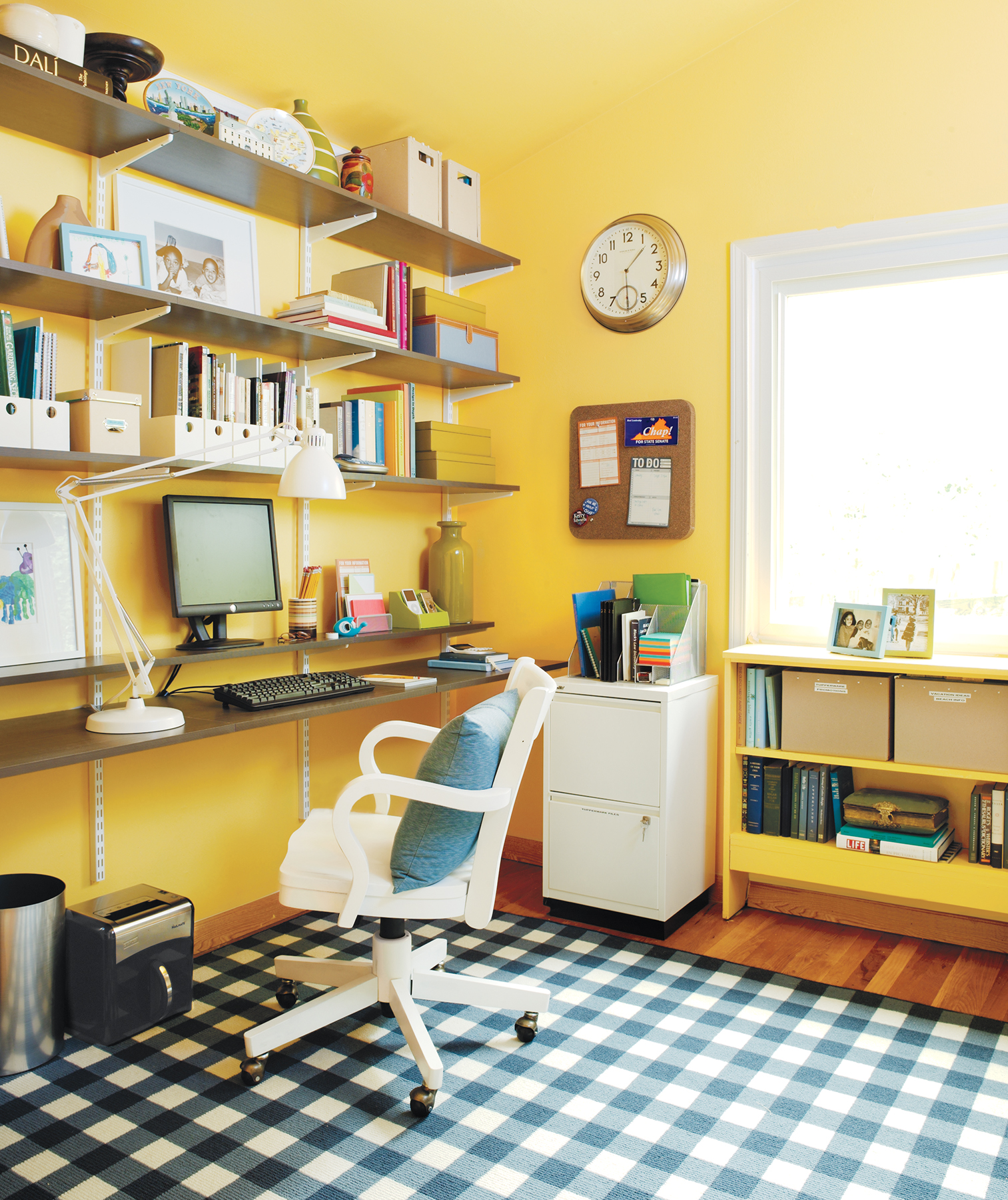organizing office ideas chic home office 21 ideas for an organized office real simple