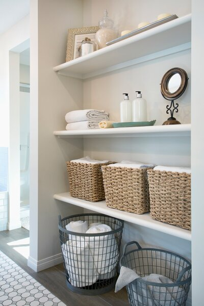 Should You Store Bath Towels In The Bathroom Real Simple