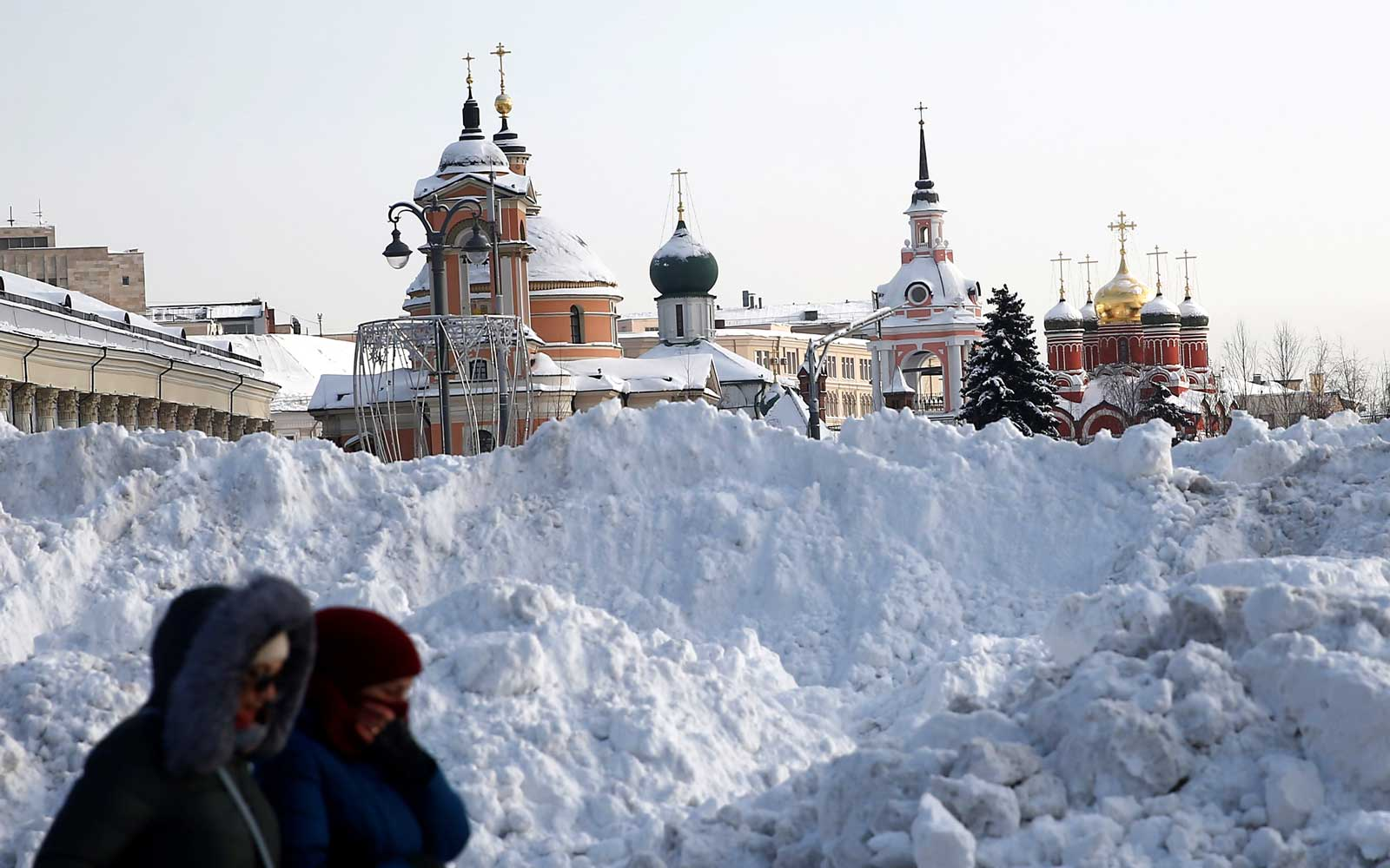 Image result for images of deep snowfall in moscow
