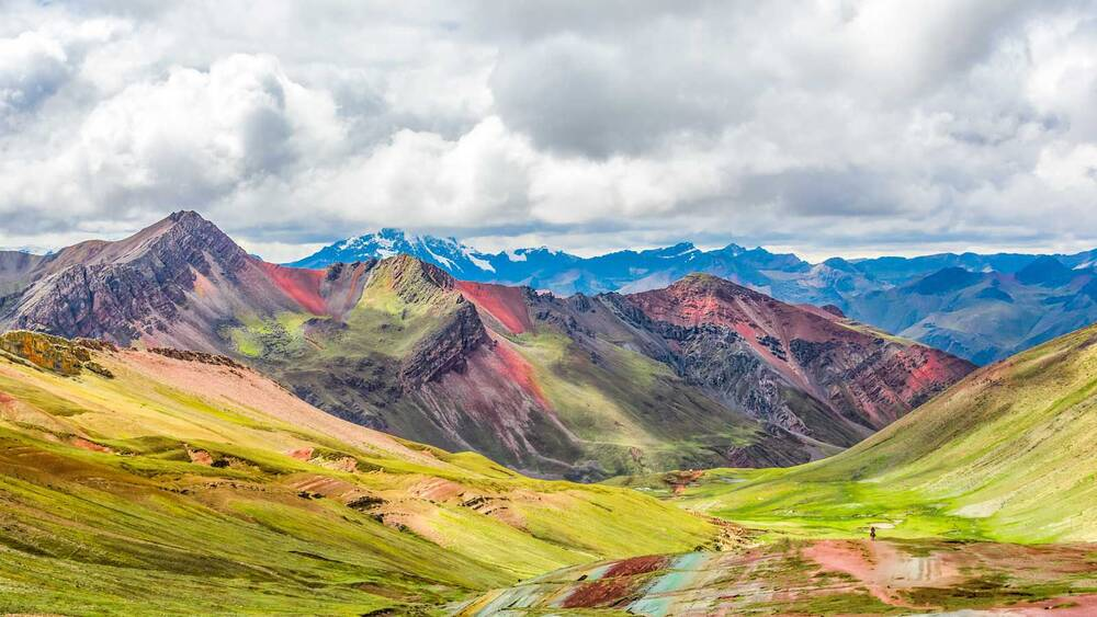 the rainbow mountain in peru looks unreal but you can actually