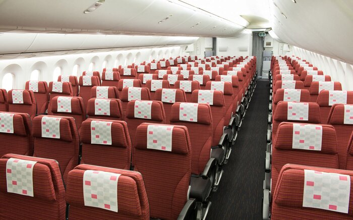 Each of Japan Airlines' Sky wider seats come with a 10.6-inch touch panel monitor.