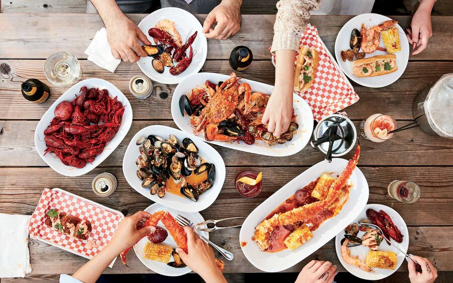 Seafood boil from Grand Catch, in St Paul