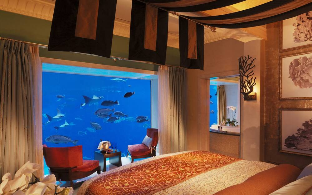 hotel underwater the neptune suite at atlantis the palm travel
