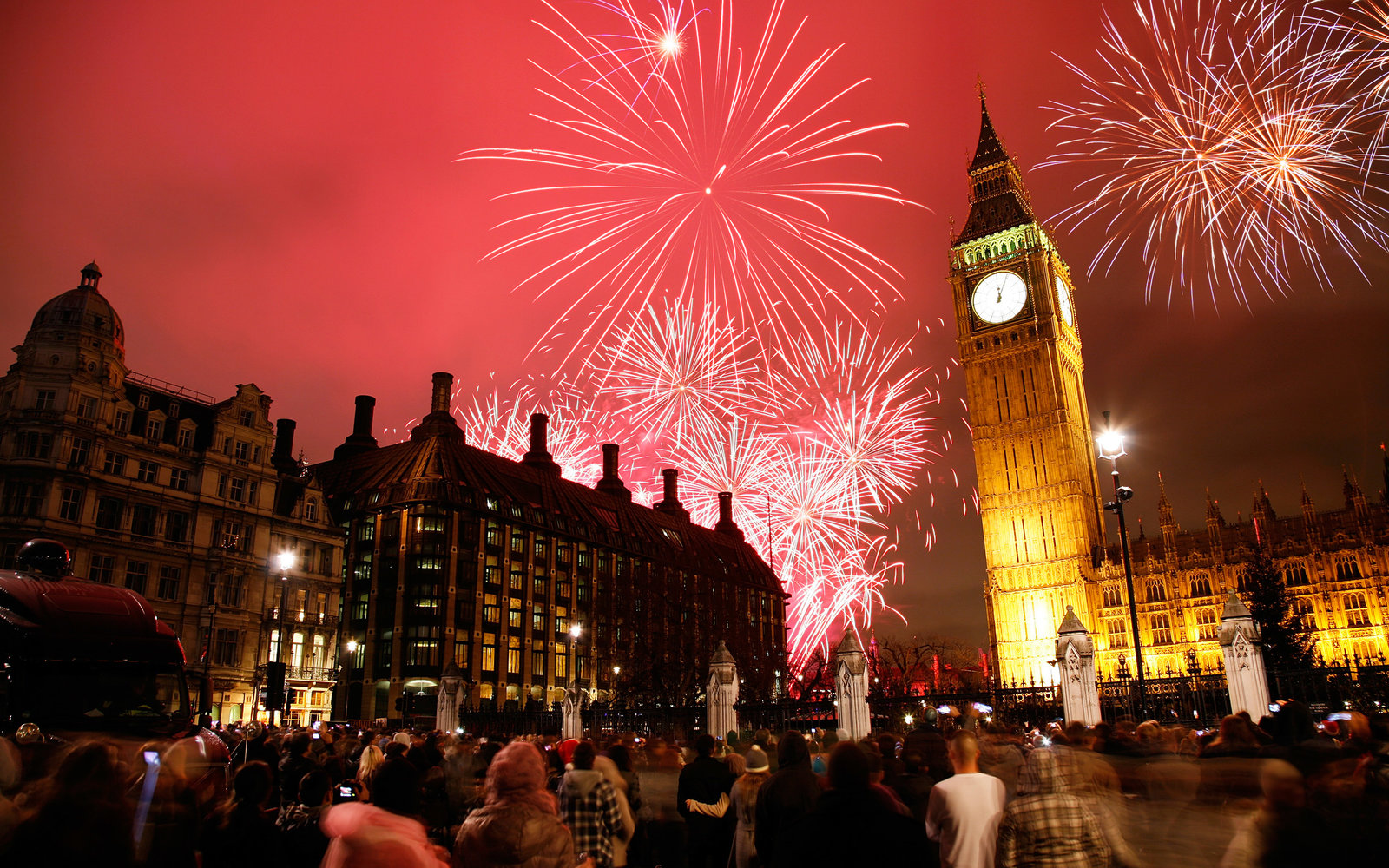 London England New Year's Eve
