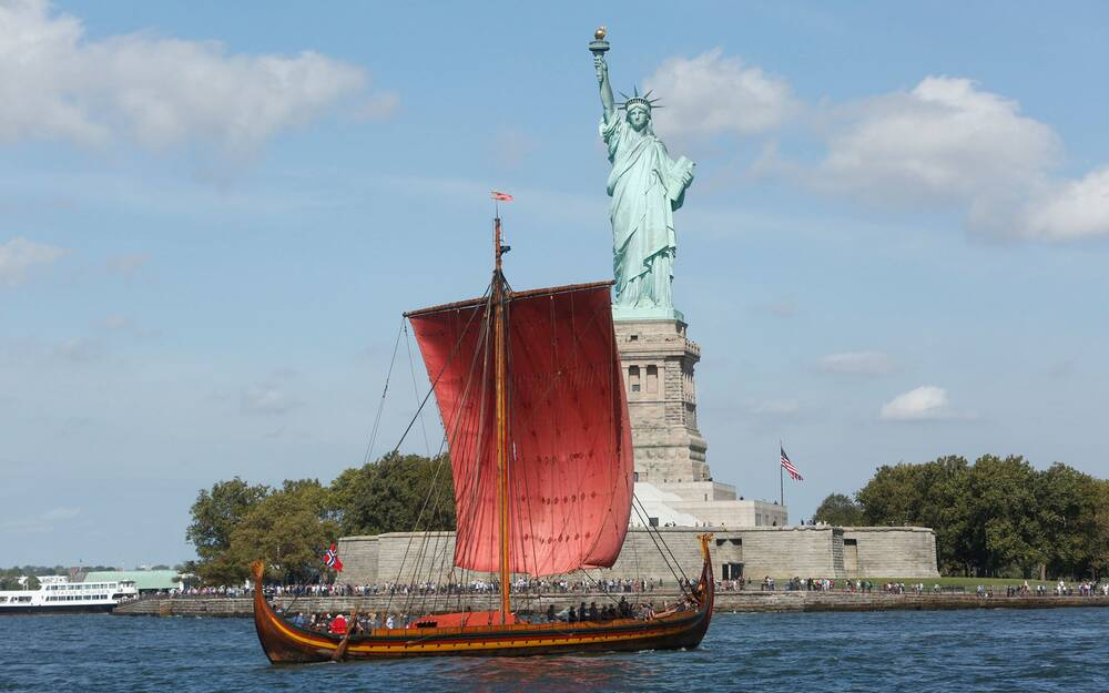 Theres A Viking Ship Docked In New York Harbor