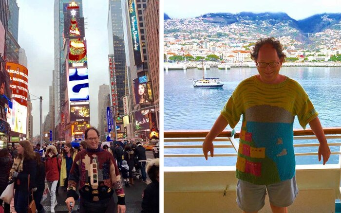 Man Knits Sweaters Of Vacation Destinations Creates Best Travel