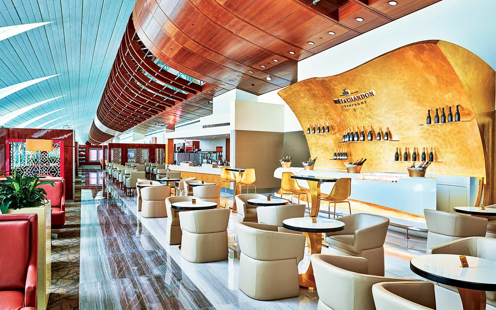 Emirates Coach Passengers In Business First Class Lounges