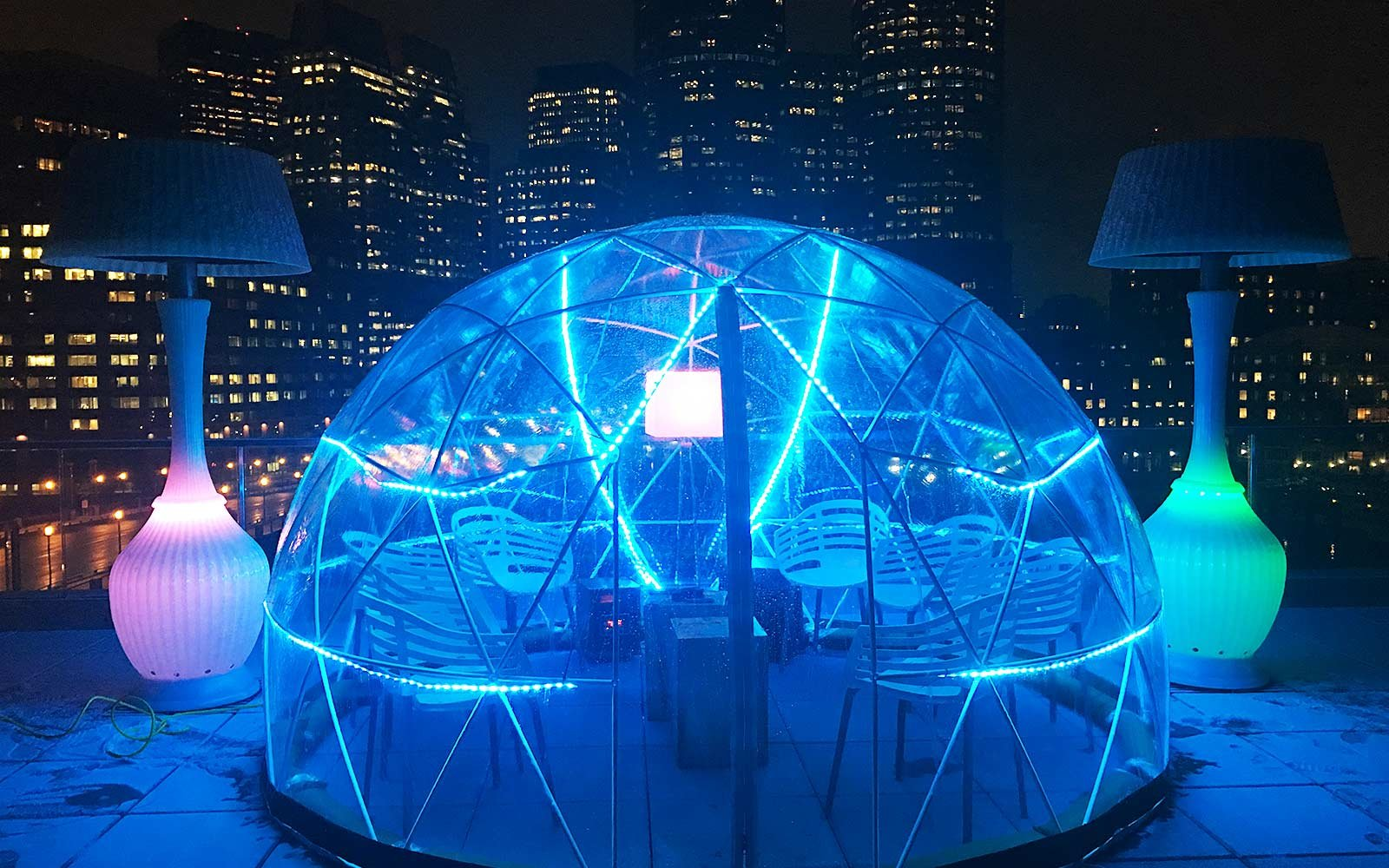 Stay Cozy At Bostons New Rooftop Igloo Bar Travel Leisure