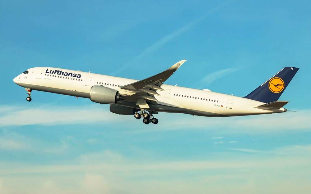 lufthansa begins service of the world s most environmentally