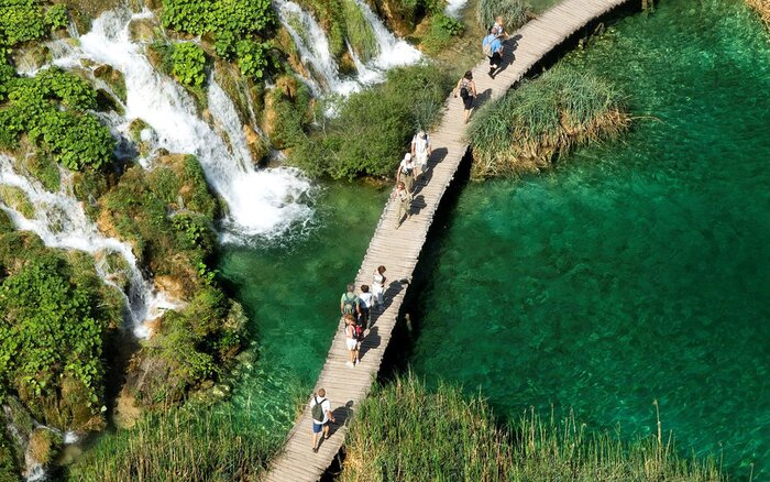 Europe Croatia Dalmatia National Park Plitvice Lakes