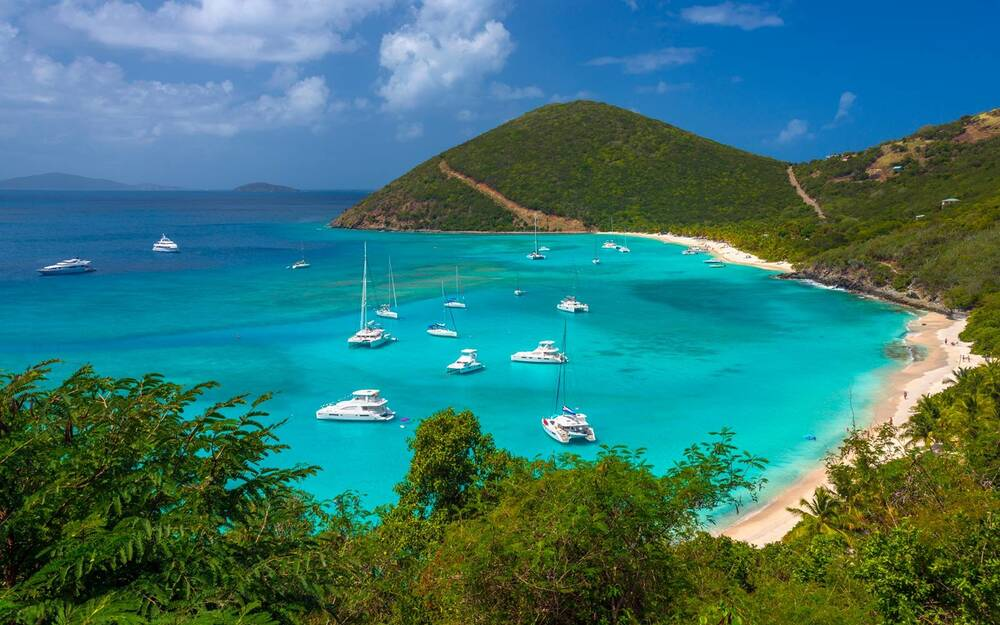 Jost Van White Bay British Virgin Islands Caribbean