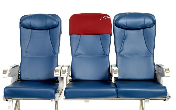 protect your head from airplane germs with this seat cover travel