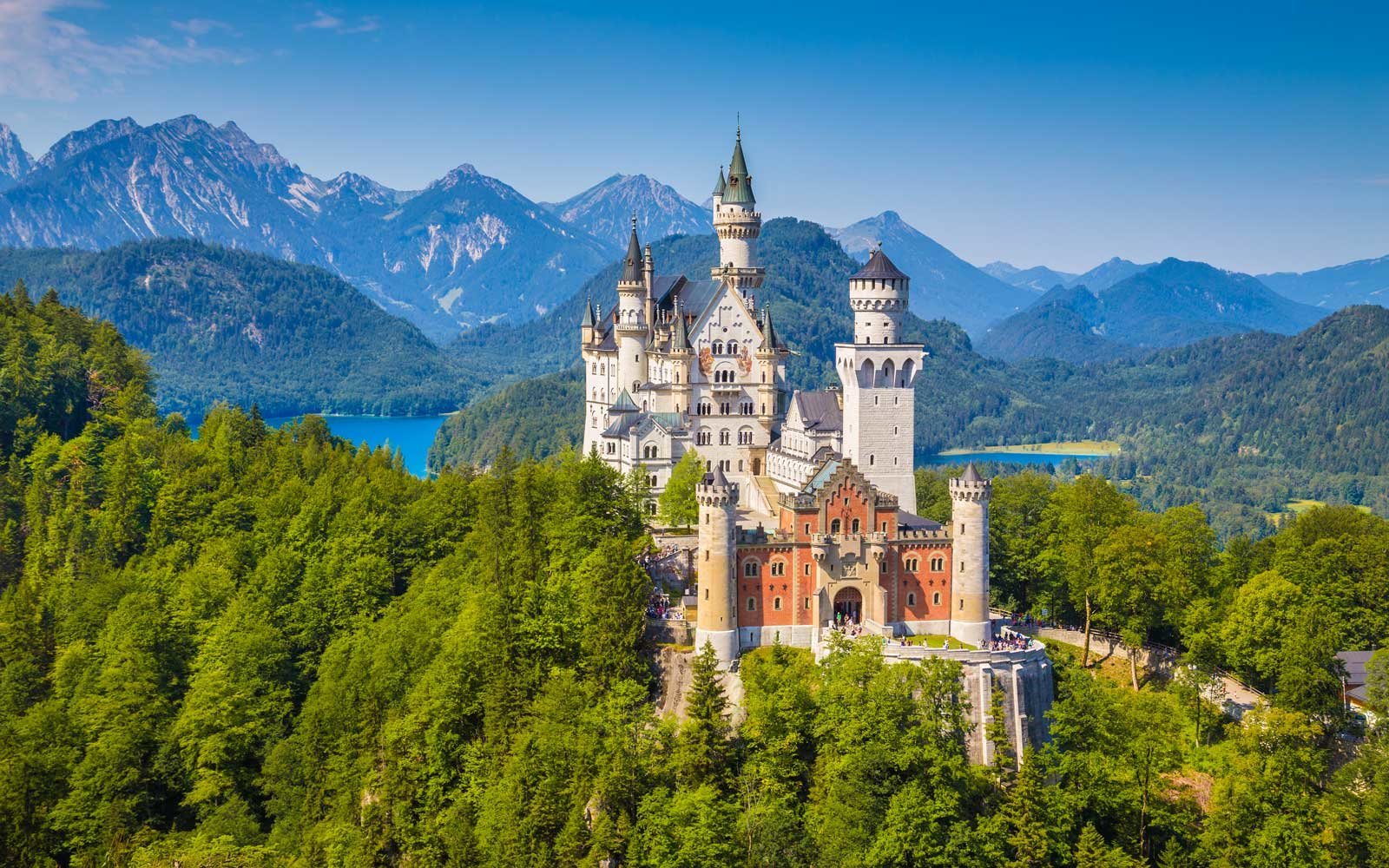 Neuschwanstein Castle in Summer