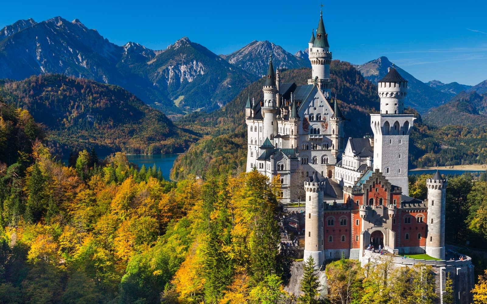 Neuschwanstein Castle in the Bavarian Alps