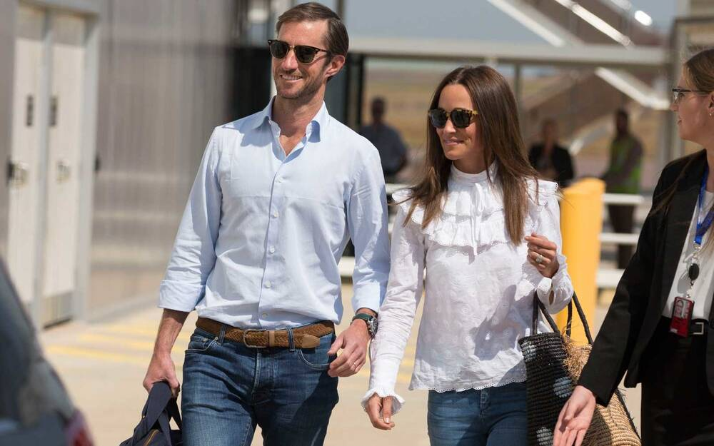 Newly Married James Matthews And Pippa Middleton Arrive Into Darwin International Airport In Northern