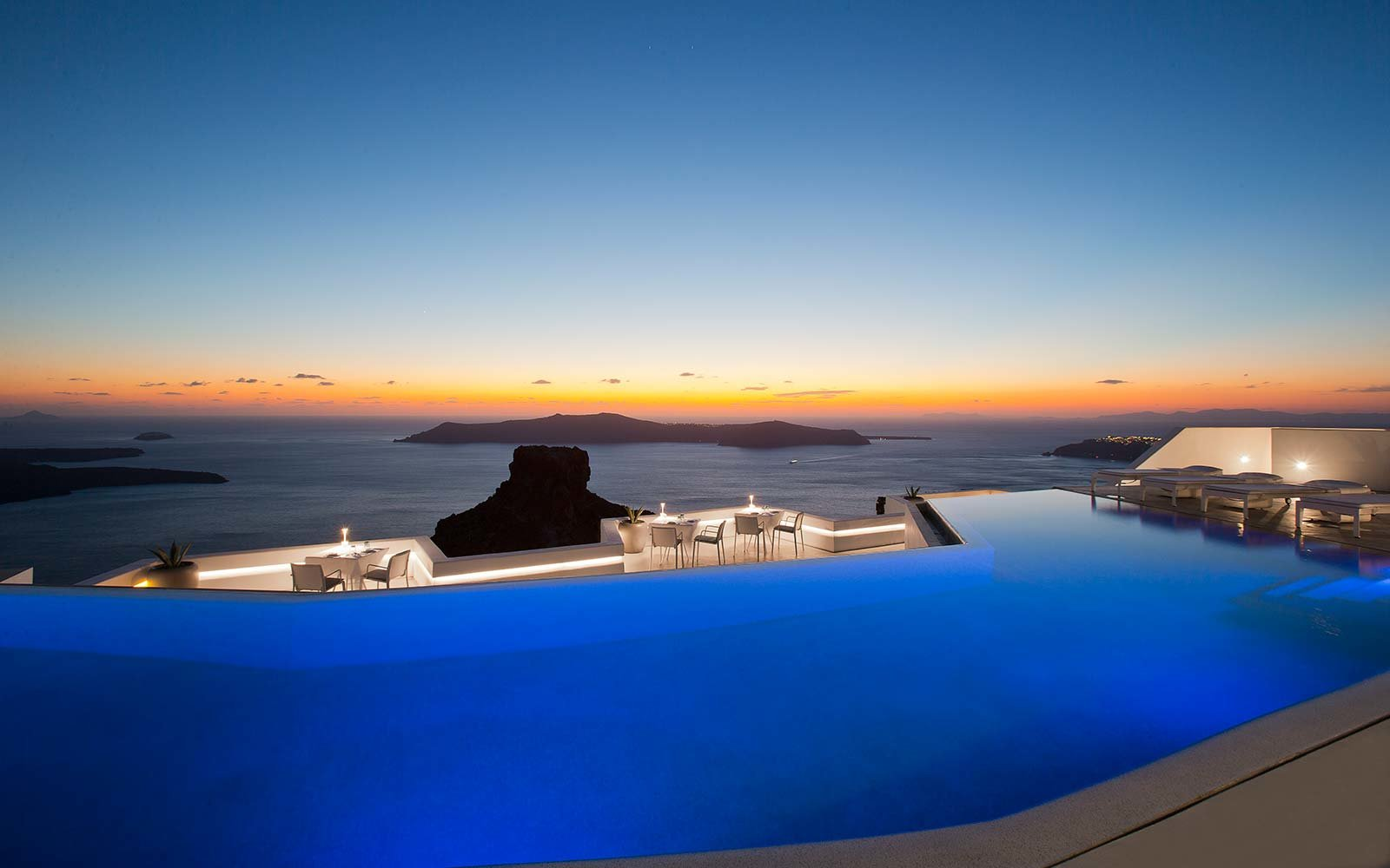 Swim over a volcano in Santorinis largest infinity pool Travel