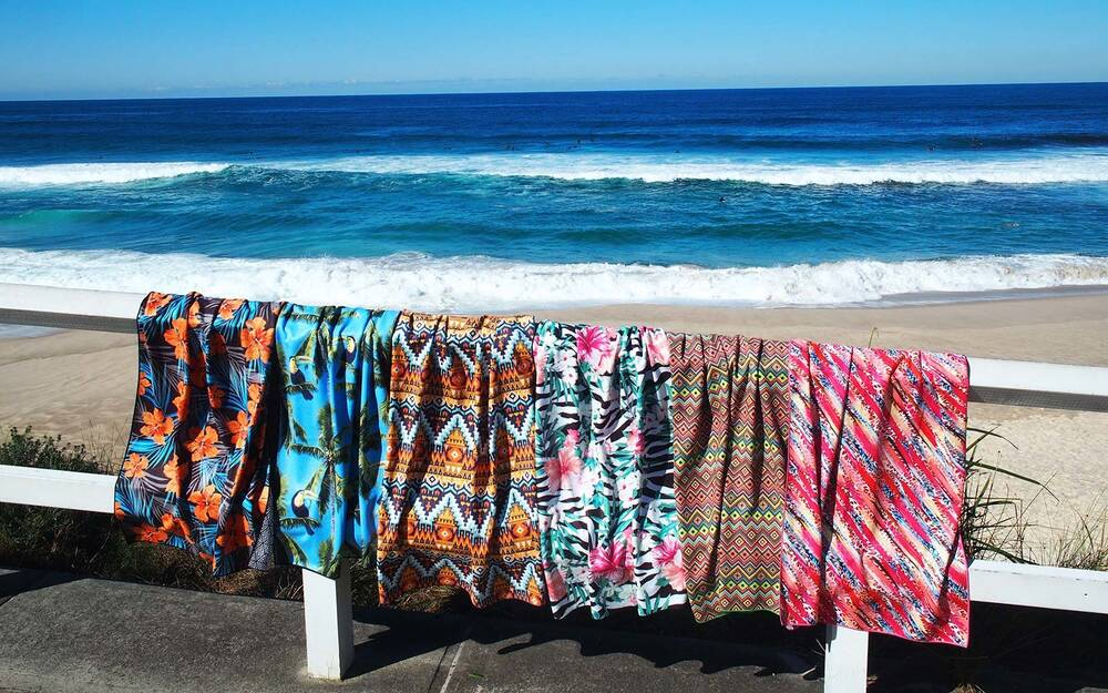 Tesalate Beach Towel Repels Sand Australia Summer