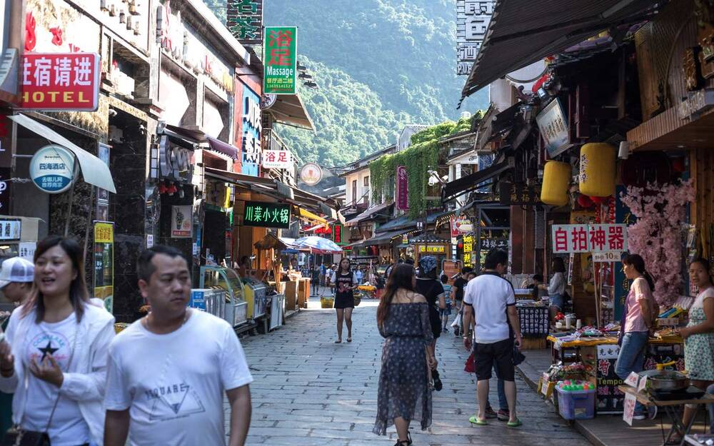 Basic words and phrases in mandarin chinese travel leisure yangshuo a lot of peoples crowded in yangshuo xijie to shopping m4hsunfo