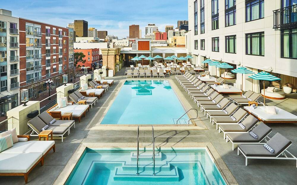 Pendry San Go Hotel Rooftop Pool House Restaurant Lounge