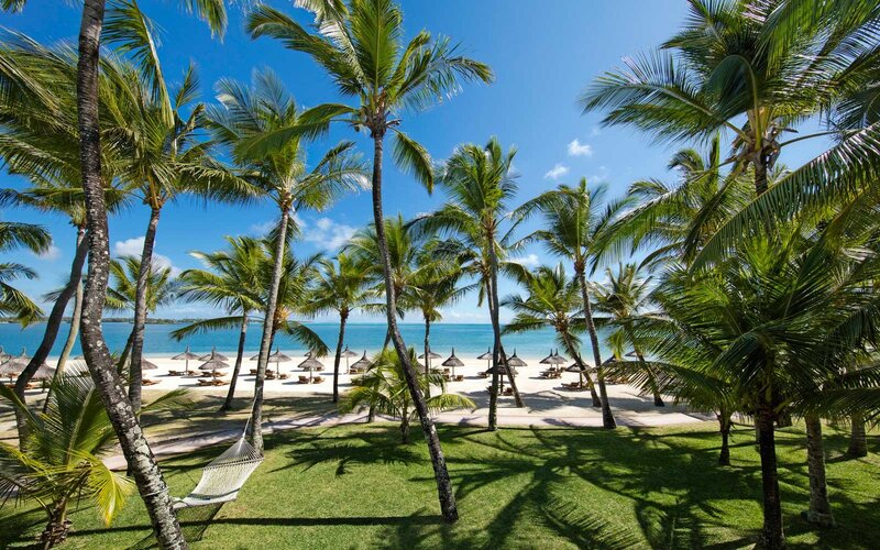 the One & Only Le Saint Geran resort beach, in Mauritius