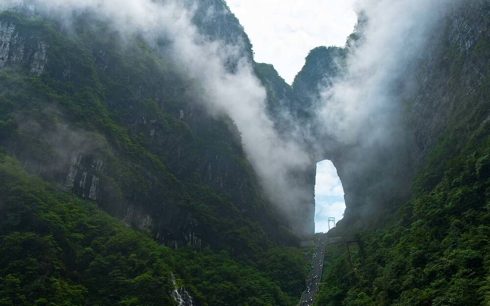 there s an actual stairway to heaven with 999 steps in china