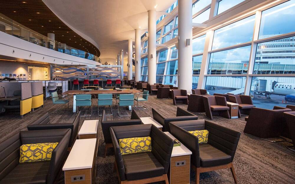 How to get access to deltas sky club lounges travel leisure sky club lounge delta airlines airport reheart Choice Image