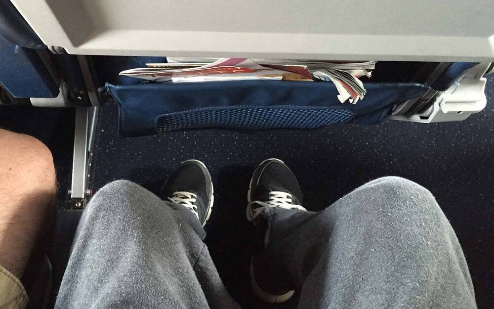 Heres How Much Space You Get Under The Seat In Front Of You On