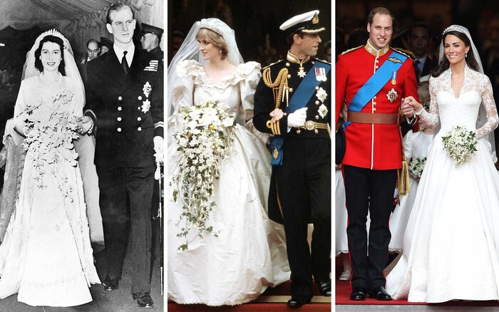 The Weddings Of Queen Elizabeth To Prince Philip Charles And Diana Will