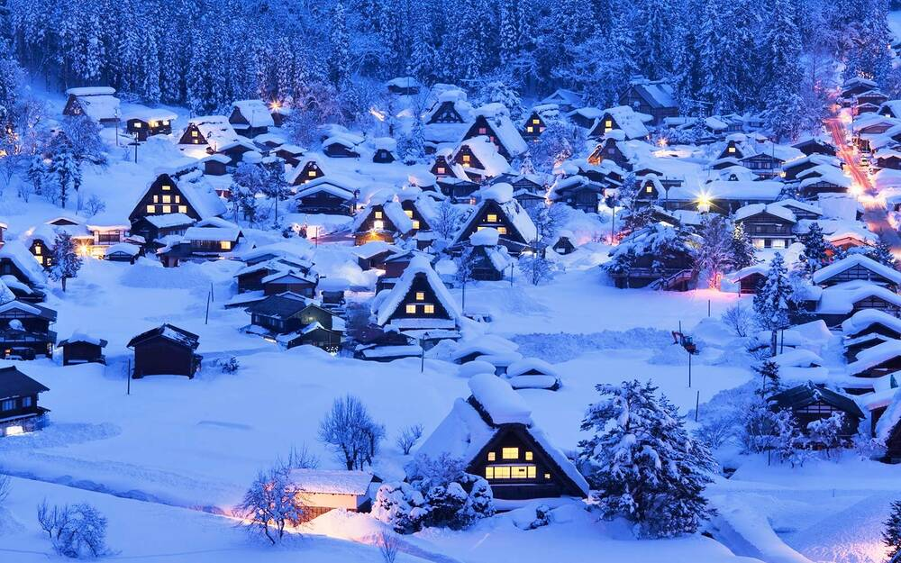 this picturesque japanese village is one of the snowiest places on