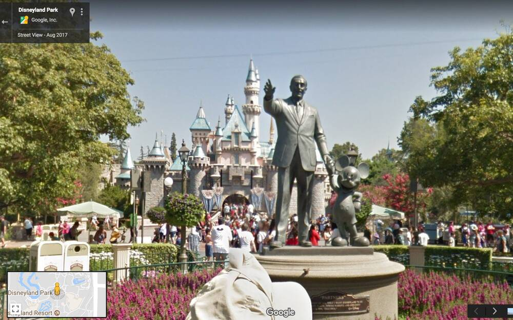 Google maps now has 11 disney parks on street view travel leisure google maps has added disney parks in california and florida to street view gumiabroncs Image collections