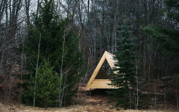 tiny relaxshacks the home cabins com micro via retreat cube in a catskills freshome woods cubetiny