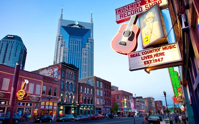 Downtown Lower Broadway Nashville Tennesse