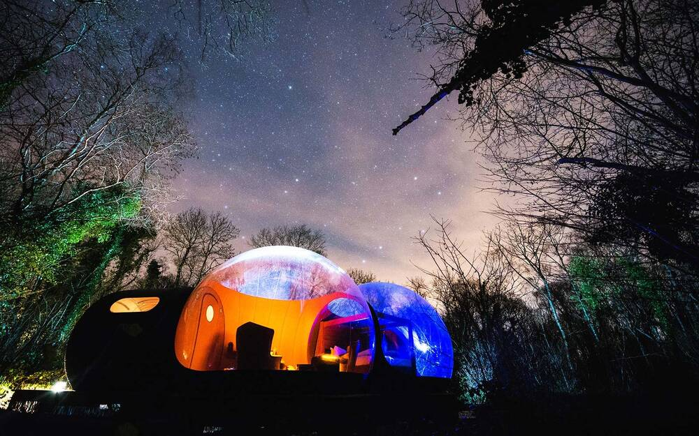 fall asleep under millions of stars at this bubble hotel in northern