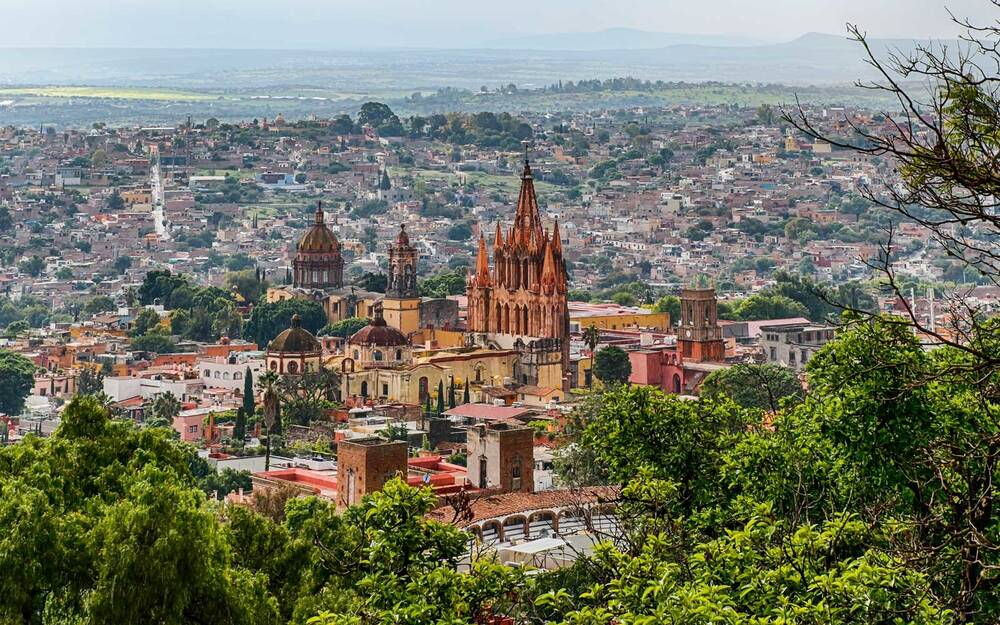 View Of San Miguel De Allende Mexico
