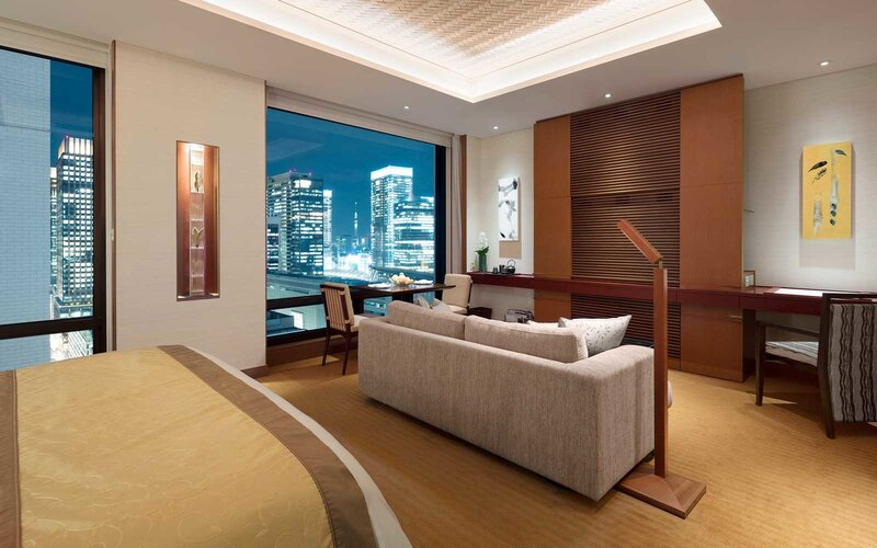 View from a room at the Peninsula Tokyo
