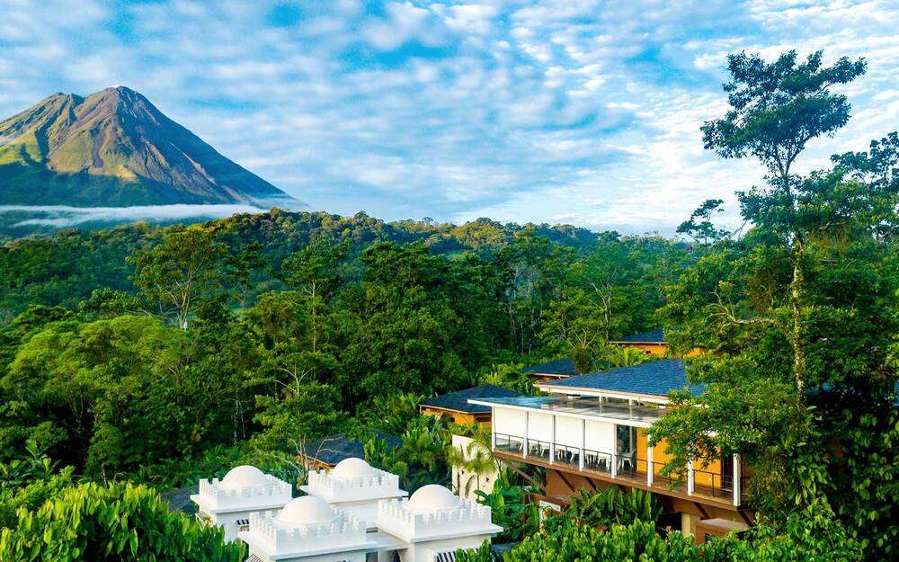 View Of The Nayara Springs Resort And Arenal Volcano In Costa Rica