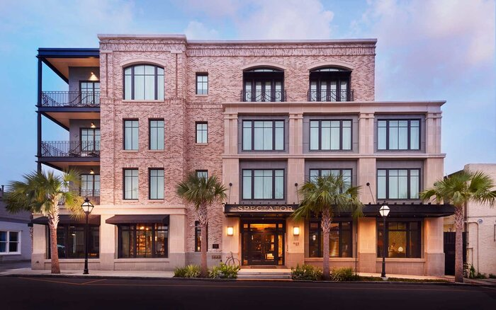 Exterior Of The Spectator Hotel In Charleston Sc