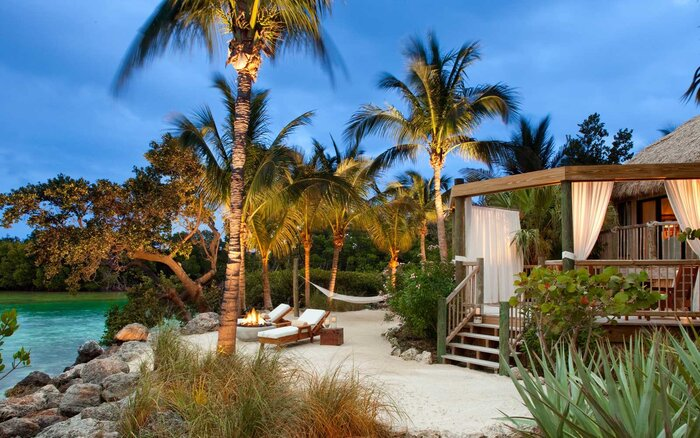 Exterior Of A Cottage At Little Palm Island In Florida