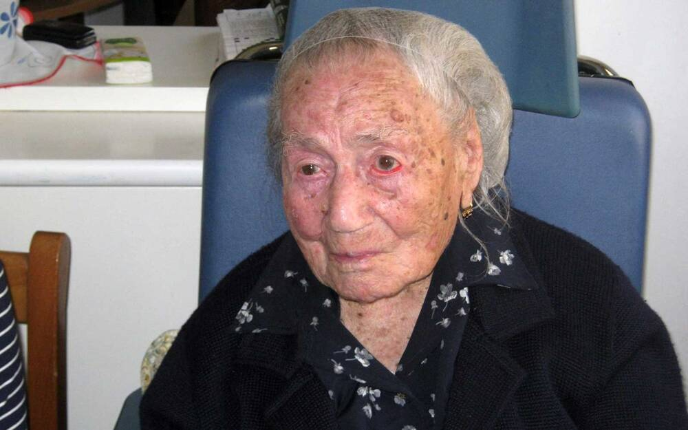 europe s oldest living person said she reached 116 years old by