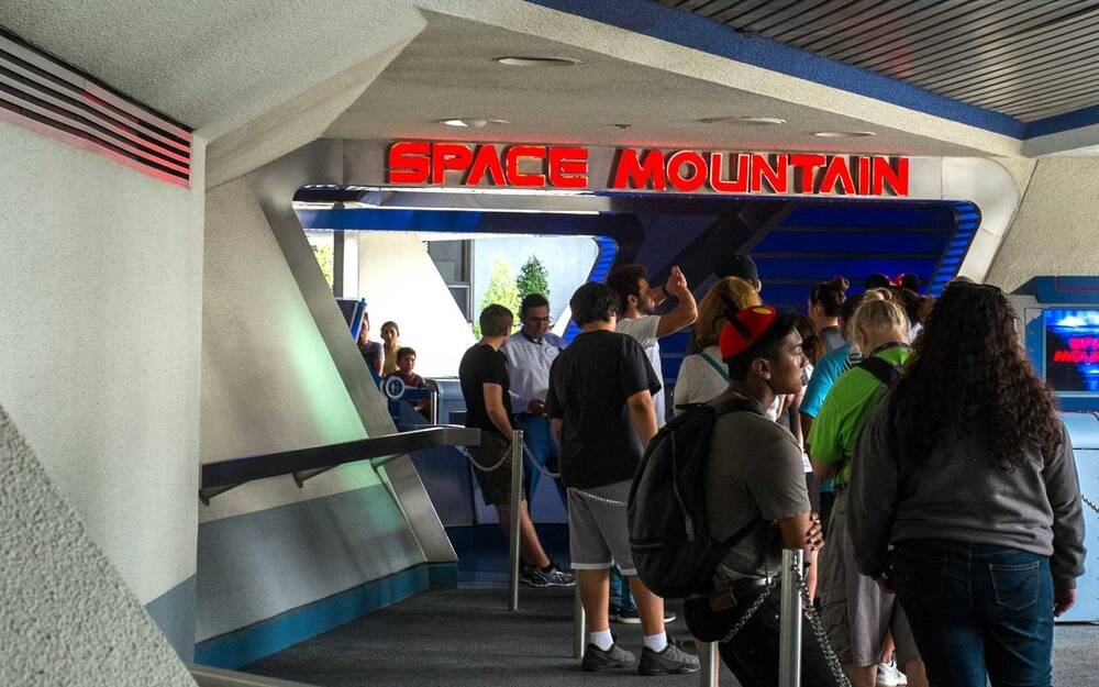 Line For Space Mountain At Disneyland