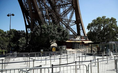 the eiffel tower is closed as employees strike over new ticketing