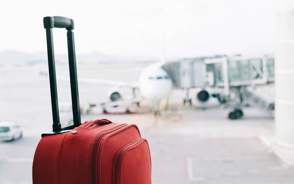 a man was so angry his flight was cancelled he set his own luggage