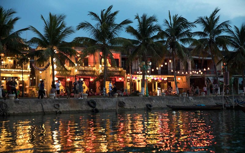 Waterfront of historic Hoi An, Vietnam