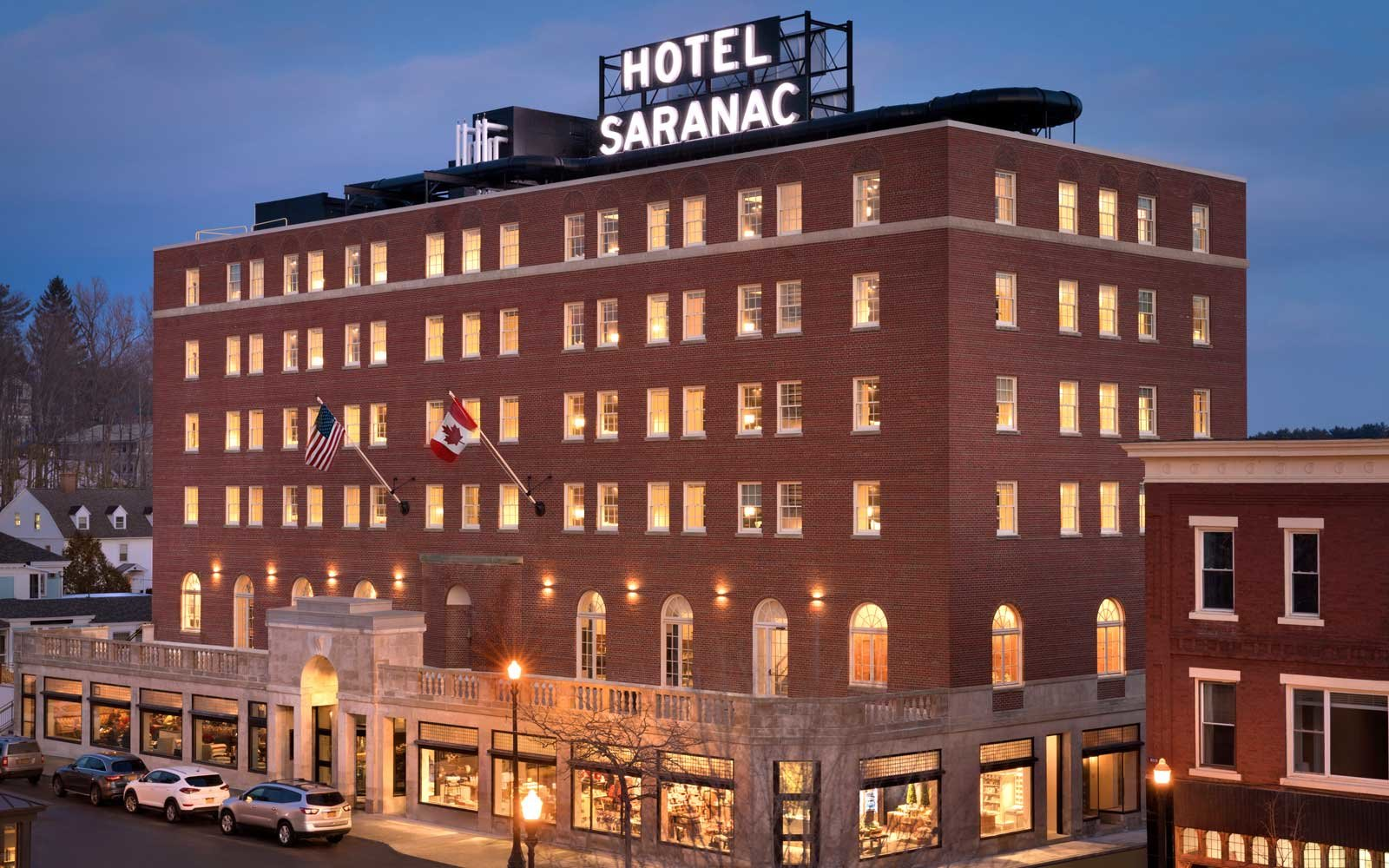 Hotel Saranac in the Adirondacks region of New York