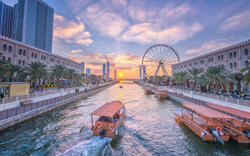 Sharjah, United Arab Emirates, at sunset